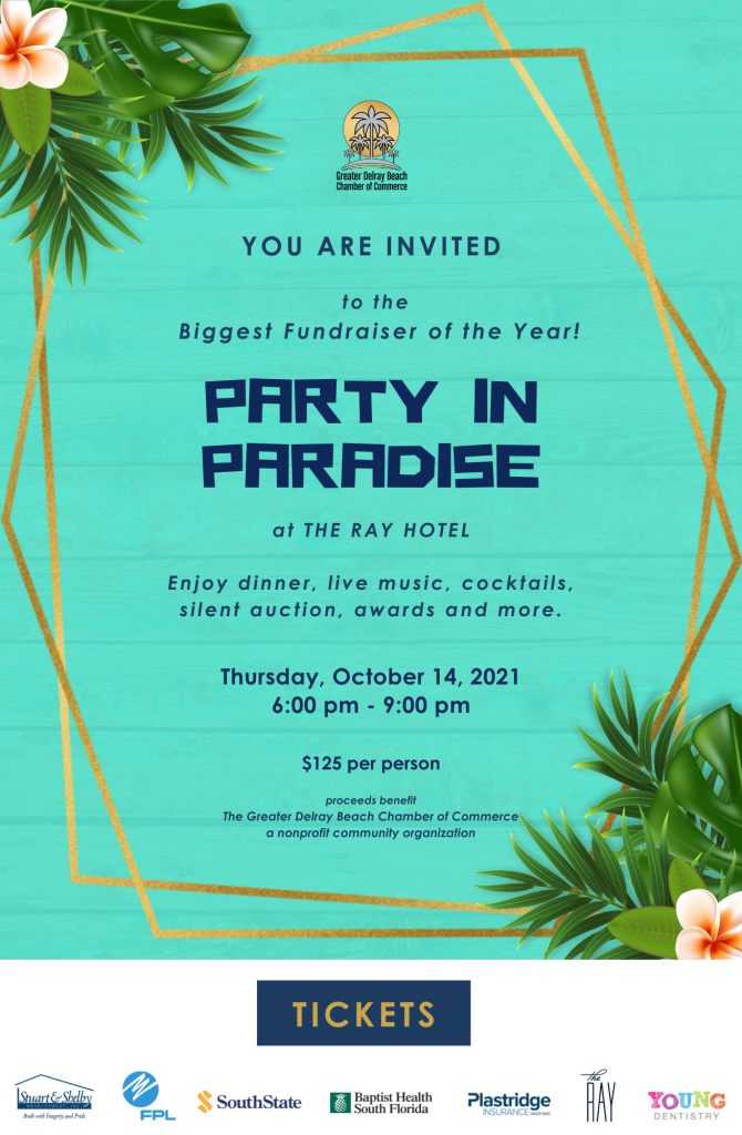 Party in Paradise Delray Beach Chamber Fundraiser